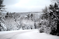 Keweenaw County Snowy Road